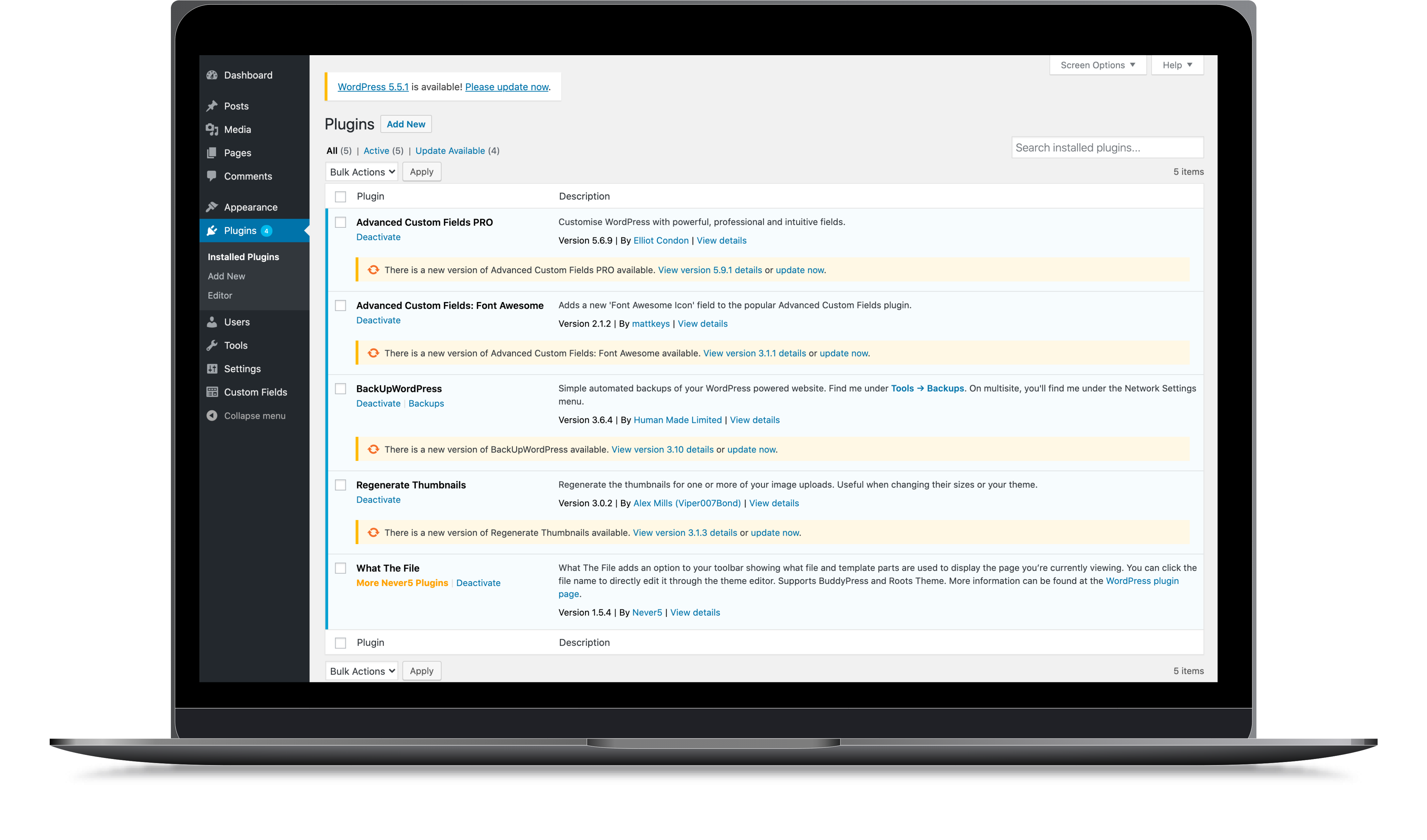 Wordpress Support Plan - Plugin updates
